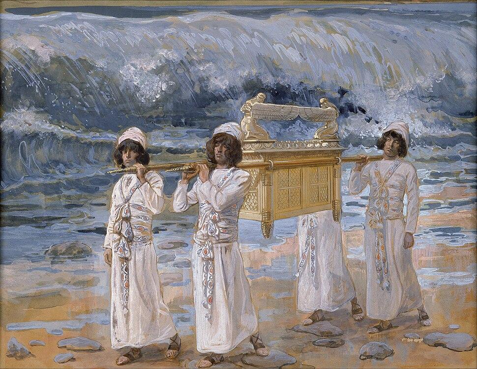 James Jacques Joseph Tissot - The Ark Passes Over the Jordan - Google Art Project