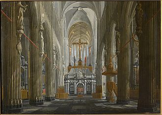 Jan Baptist van Meunincxhove - Nave of the St. Salvator's Church