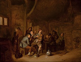 Figures Smoking and Playing Music in an Inn