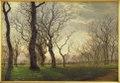 Janus la Cour, I udkanten af en egeskov en tidlig forårsmorgen, 1863, Kms831, Statens Museum for Kunst.tif