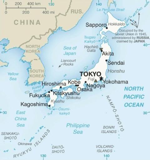 Japan-CIA WFB Map