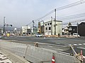 Japan National Route 183 in front of Miyoshi Station.jpg