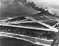 Japanese airfield on Mili Atoll under attack by US Navy carrier planes in November 1943.jpg