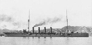 1st Special Squadron (Japanese Navy) - Image: Japanese cruiser Yahagi 1916