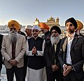 Jasvir Singh OBE accompanying the Mayor of London Sadiq Khan to the Golden Temple in Amritsar, India.jpg