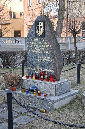 Jaworzno concentration camp - Memorial to the adolescent political prisoners 1951-1956
