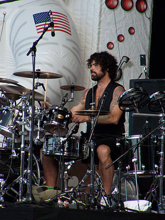 Primus (band) - Jay Lane performing at the 2011 Soundwave festival in Brisbane, Australia.