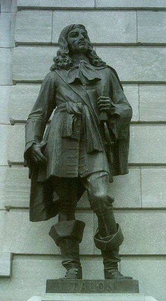 1666 census of New France - Jean Talon, statue in front of the Quebec Parliament Building