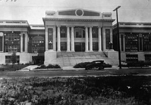 Jefferson High School (Los Angeles) - Jefferson High Original School from the Front, 1920