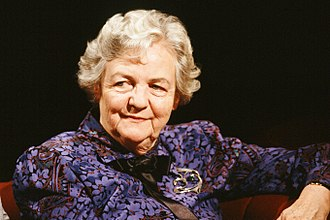 Jessica Mitford - Mitford appearing on British TV show After Dark in 1988