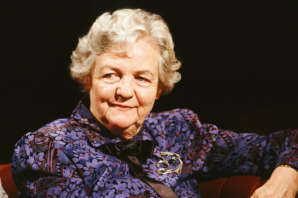 """Jessica Mitford appearing on """"After Dark, 20 August 1988"""