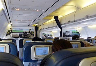 Jet Airways - Interior of a Jet Airways Boeing 737