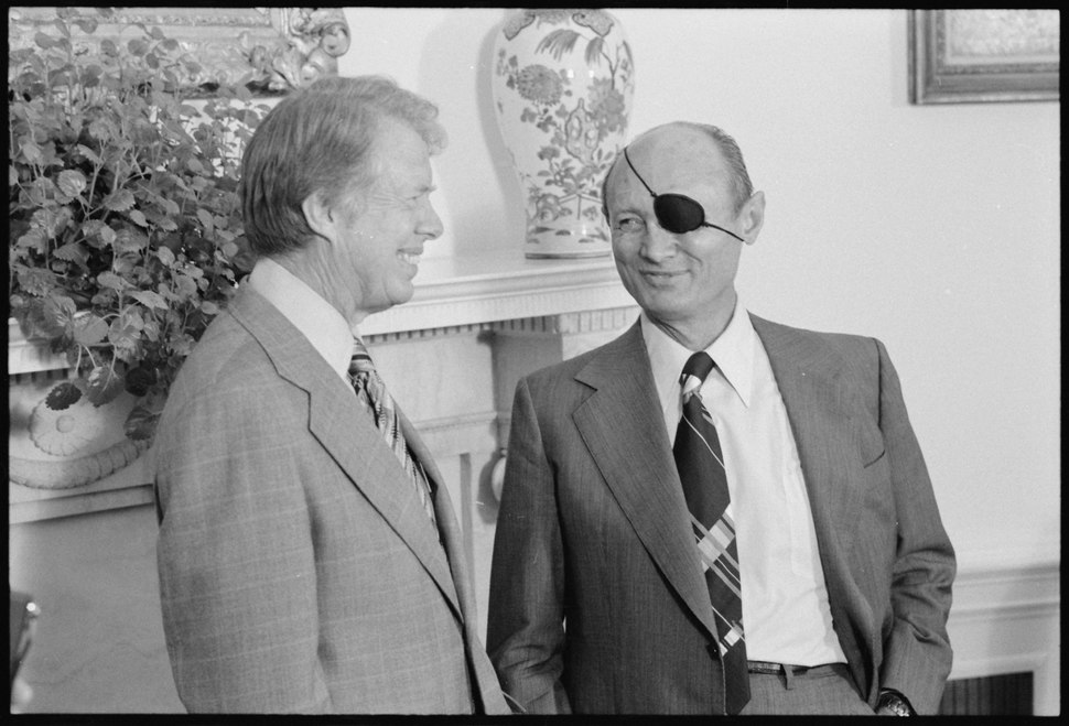 Jimmy Carter with Moshe Dayan - NARA - 176274