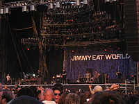 Jimmy Eat World am 19. August 2007 auf dem Highfield-Festival
