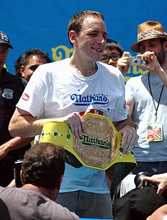 Joey Chestnut American competitive eater and reality show contestant