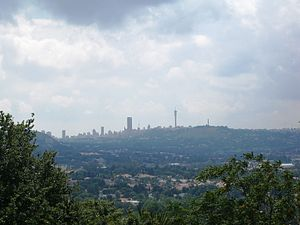 English: My hometown, Johannesburg - its motto...
