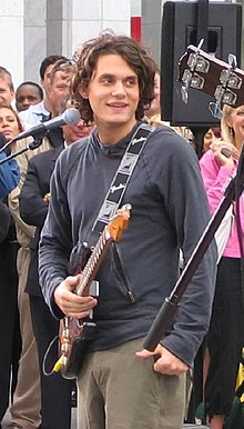 John Mayer performing on The Early Show