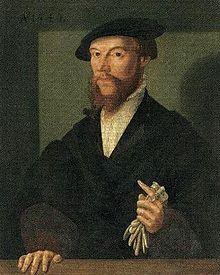 Johannes Calvin (Anonymer Künstler um 1540, Wallonisch-Niederländische Kirche Hanau) (Quelle: Wikimedia)