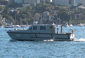 John Gowland on Sydney Harbour in 2010