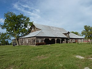 National Register of Historic Places listings in Oklahoma - John Patrick McNaughton Barn, Quapaw