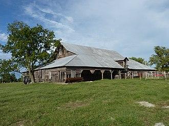 National Register of Historic Places listings in Oklahoma - John Patrick McNaughton Barn, Quapaw