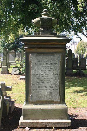 John Thomas Rochead - John T Rochead's grave, Grange Cemetery