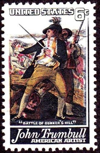 John Trumbull - Trumbull commemorative postage stamp, 1968