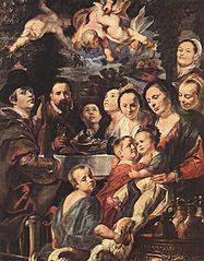 Portrait de l'artiste avec sa famille