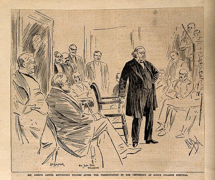File:Joseph Lister giving thanks for a testimonial and portrait p Wellcome V0006746.jpg