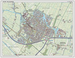 Joure - Dutch Topographic map of Joure, June 2014