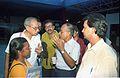 Journalists Interviewing Saroj Ghose - Dinosaurs Alive Exhibition - Science City - Calcutta 1995-06-15 137.JPG