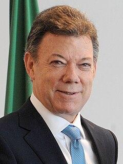 Juan Manuel Santos former President of Colombia