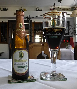Schwarzbier - Dark beer brewed in Baden-Württemberg.
