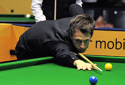 Judd Trump at Snooker German Masters (DerHexer) 2013-01-30 04.jpg