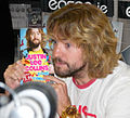 Justin Lee Collins book signing (cropped etc).jpg
