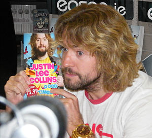 Justin Lee Collins - Collins signing autobiography Goodtimes