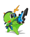 KDE mascot Konqi for music and multimedia applications.png