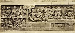 KITLV 40073 - Kassian Céphas - Relief of the hidden base of Borobudur - 1890-1891.jpg