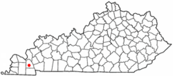 Location of Benton, Kentucky