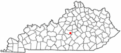 Location of Bradfordsville, Kentucky