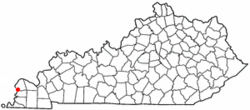 Location of Wickliffe, Kentucky