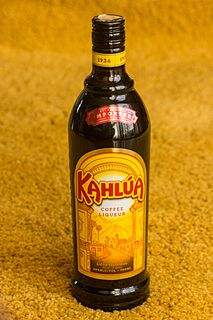 Kahlúa coffee-flavoured liqueur