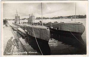 Estonian Navy - Estonian submarines Kalev and Lembit during the interwar period.