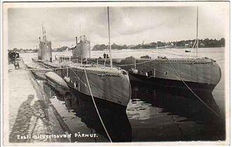 Estonian Navy - The Estonian submarines Kalev and Lembit during the interwar period.