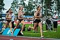 Kalevan Kisat 2018 - Women's 800 m - Jonna Julin, Sara Kuivisto, Aino Paunonen.jpg