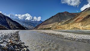 Gandaki River - Kali Gandaki river north of Kagbeni