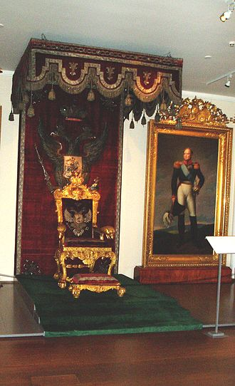 Diet of Finland - The throne used by Emperor Alexander I at the Porvoo Diet in 1809. The throne has been part of the collection of the National Museum of Finland from 1919 onwards