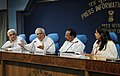 Kapil Sibal, Dr. M. Veerappa Moily and Shri Salman Khurshid addressing a press conference on the meeting of the Lokpal Bill, in New Delhi. The Principal Director General (M&C), Press Information Bureau (1).jpg