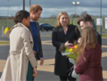 Karen Bradley MP welcomes Prince Harry and Ms. Markle as they embark on their first visit to Northern Ireland as a couple. (40969267151).png