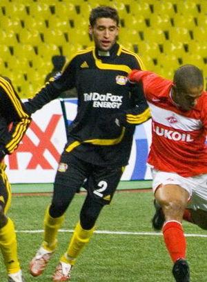 Kasserine - Haggui in action for Bayer Leverkusen in 2007.